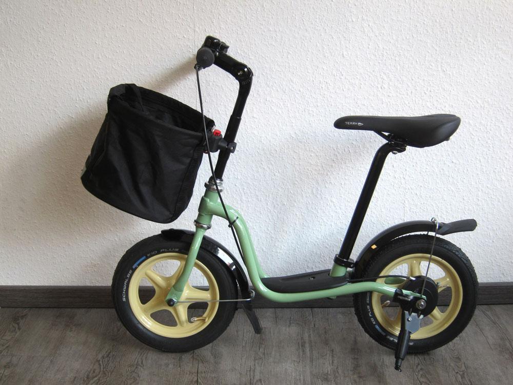 Laufrad – umlackiertes Puky wird zum eleganten Shopper